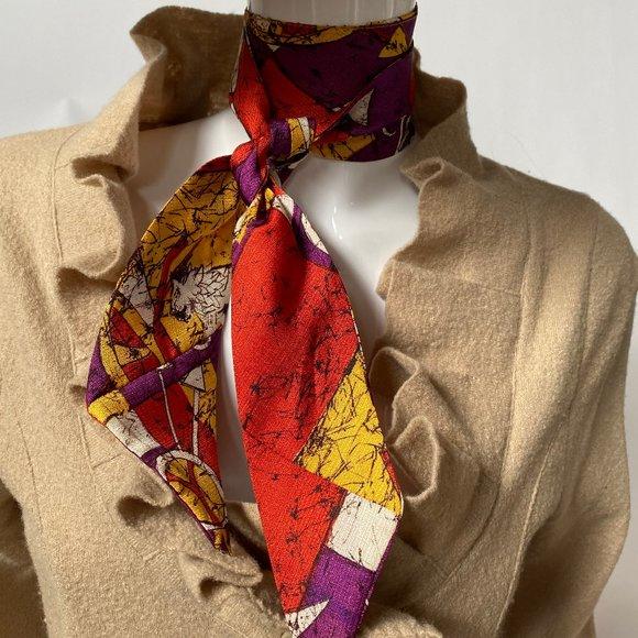 Vintage MCM Griffin Pattern Tie